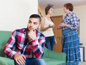 Family quarrels with the husbands mother — Stock Photo