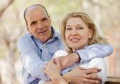 Portrait de famille positive mature — Photo