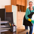 Cleaner  cleaning in the office-room — Stock Photo #79916520