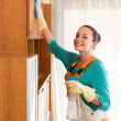 Woman cleaning at the office — Stock Photo #79916712