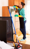 Representative of a cleaning company — Stock Photo