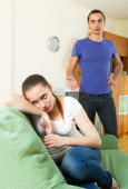 Young couple's conflict — Stock Photo