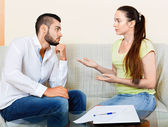 Nervous  male and female — Stock Photo