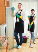 Профессиональные чистящие на работе — Стоковое фото