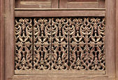 Old wooden traditional Nepalese window detail. Nepal — Stock Photo