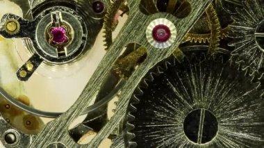 Komplexní hnutí moderní wind-up hodinky, full hd, timelapse — Stock video