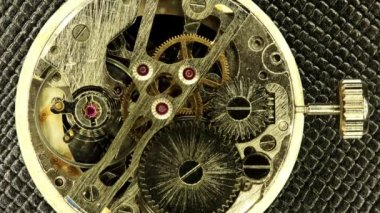 Complex movement of a modern wind-up watch, Full HD, timelapse — Stock Video