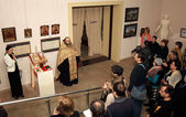 "DONETSK - FEBRUARY 16: Opening of the exhibition ""St. Luke Crime — Foto de Stock"