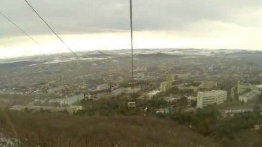 Cableway in Pyatigorsk, Stavropol Krai, Russia, Full HD — Stock Video