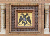 Exterior decoration of the mosaic on the Church of the Savior on — Stock Photo