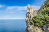 Old castle over the sea — Stock Photo