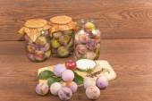 Marinating plums — Stock Photo