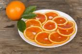 Red orange sliced — Stock Photo