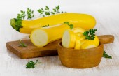 Zucchini on table — Foto Stock