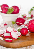 Radishes on  table — Foto Stock