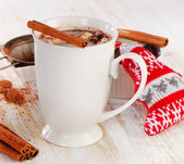Cup of  Chocolate with cinnamon — Stock Photo