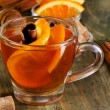 Christmas tea with orange, honey and spices — Stock Photo #55502559