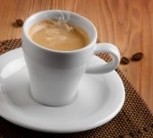 White cup of espresso — Stock Photo