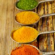 Colourful  ground spices — Stock Photo #58078091