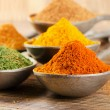Colourful dried ground spices  — Stock Photo #58078221