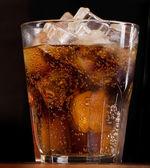 Cola with ice — Stock Photo