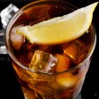 Glass of cola with ice cubes — Stock Photo #59021597