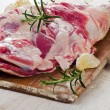 Raw lamb leg — Stock Photo #59508995