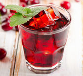 Cranberry drink with berries — Stock Photo