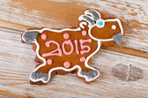 Gingerbread goat cookie — Stock Photo