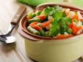 Steamed vegetables mix — Photo