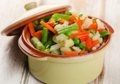 Steamed vegetables mix — Stockfoto