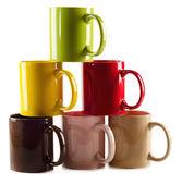 Set of colorful mugs — Stock Photo