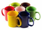 Set of colorful mugs — Stock Photo