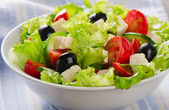 Fresh vegetables salad with feta — Stock Photo