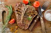 Grilled BBQ Steak — Stock Photo