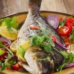 Fried dorado fish — Stock Photo #69679223