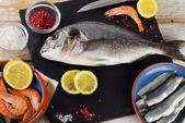 Fish  with  spices — Stock Photo