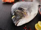 Fresh  sea bream - healthy food. — Stock Photo