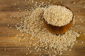 Uncooked brown rice — Stock Photo
