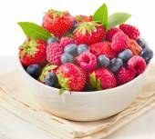 Fresh berries in the plate — Stock Photo