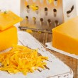 Grated Cheddar Cheese — Stock Photo #76137743