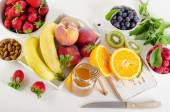Fresh mixed fruits and berries. — Stock Photo