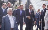Leonid Kravchuk, Leonid Kuchma and Viktor Yushchenko — Stock Photo