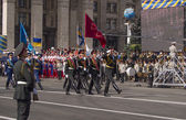 Military parade to mark Independence day — Stock Photo