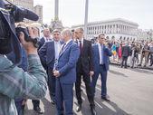 Oleksandr Turchynov, Arseniy Yatsenyuk and Arsen Avakov — Stock Photo