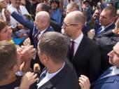 Oleksandr Turchynov and Arseniy Yatsenyuk — Stock Photo