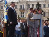 Prsedent Petro Poroshenko during parade — Stock Photo