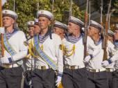 Cerimónia de hastear da bandeira oficial — Fotografia Stock