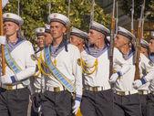 Official flag-raising ceremony — Stock Photo
