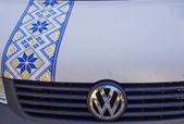 Ukrainian pattern on car in Kiev — Stock fotografie